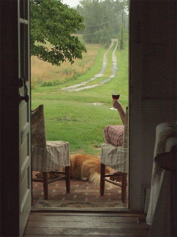 Wer würde nicht hier sitzen wollen? Aus der Laube…
