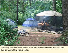 The camp sites at Hamlin Beach State Park in the Finger Lakes #FingerLakes are more shaded and secluded than at many of the state's parks.