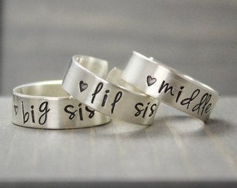 Sisters Rings Sisters Jewelry Big Sister Ring by PureImpressions