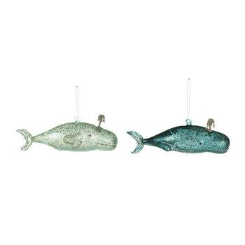 Cody Foster & Co - Victorian Whale Christmas Tree Decoration - Set of 2