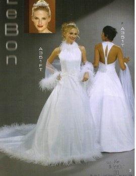 White Size 16 Formal Bridal Gown Wedding Dress