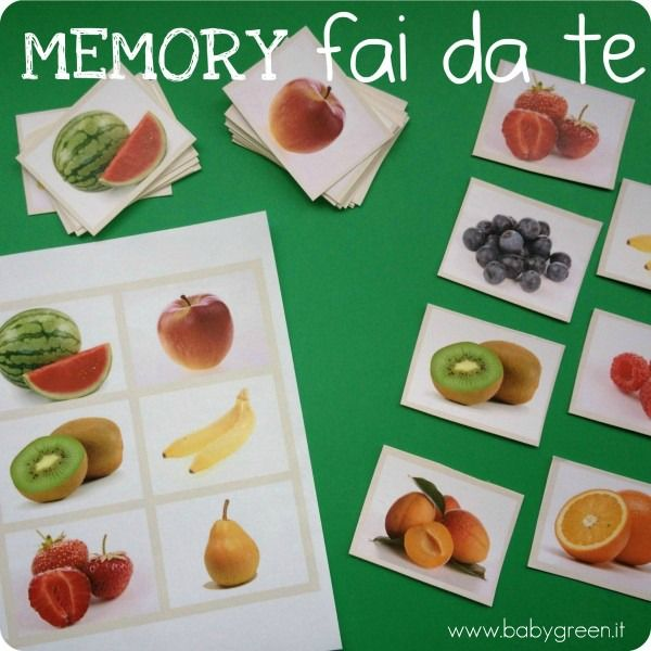 Oltre 25 fantastiche idee su lavoretti con la frutta per for Memory da stampare