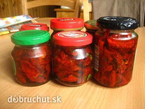 Fotorecept: Sušené paradajky v olivovom oleji