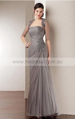None Floor-length Empire A-line Tulle Formal Dresses aiga307038--Hodress