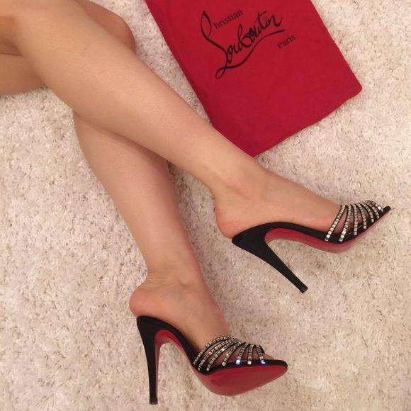 Brand ?? new CHRISTIAN LOUBOUTIN \u0026#39;Desir\u0026#39; heels 36NWT | Sparkly ...
