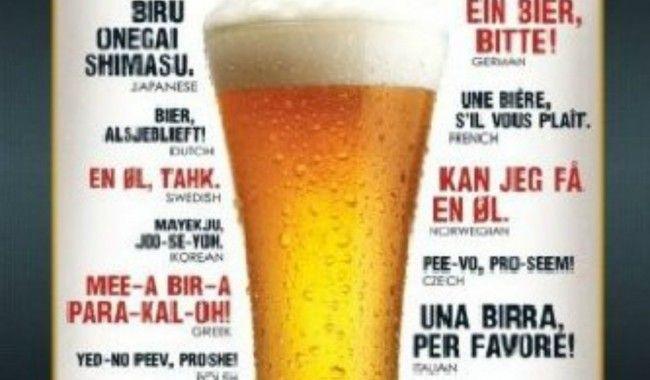 [TOPITRUC] Un poster pour apprendre à commander une bière dans toutes les langues