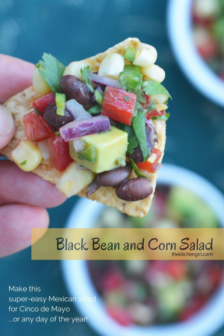 Black Bean and Corn Salad is easy to make and easier to eat! thekitchengirl.com Cinco De Mayo Vegetarian Vegan Cowboy Caviar