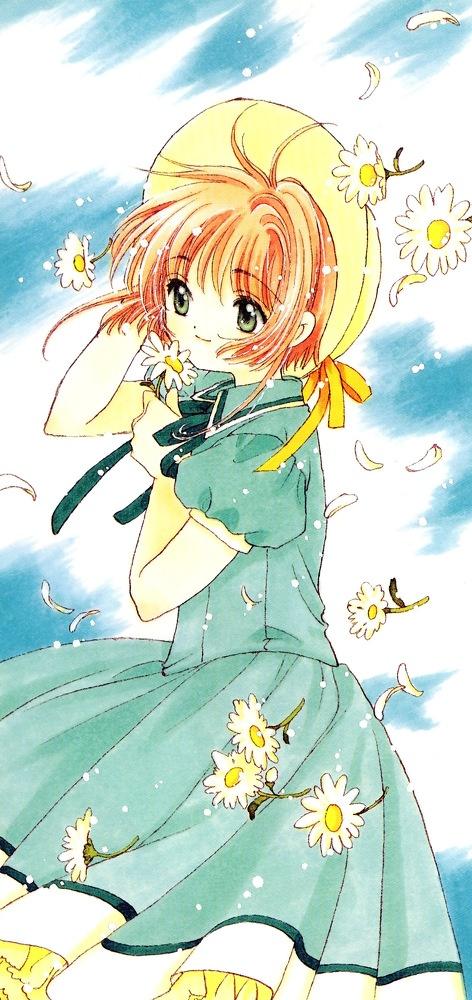 Kinomoto Sakura es una niña ke cuando esta en cuarto, cuando esta limpiando sótano se encuentra un libro y al abrir el libro las cartas Clow salen volando y despierta al guardián de las cartas allí ella tiene que salir a buscarlas con ayuda del guardián (keru)