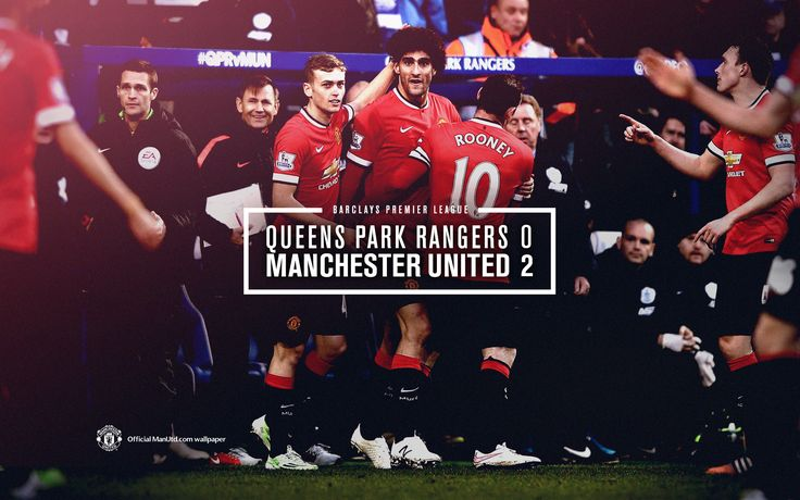 Match poster: Queens Park Ranger  0 - 2 Manchester United, 17 January 2015. Designed by @Manchester United
