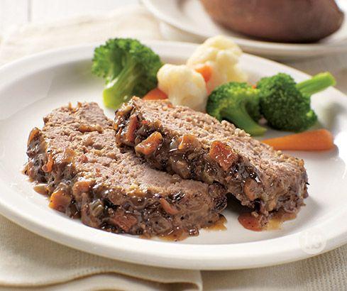 Merlot & Mushroom Meatloaf Recipe │Traditional meatloaf with a ...