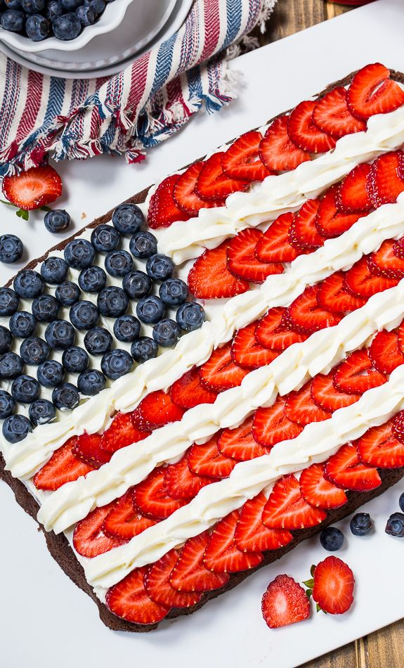 Flag Brownies make a patriotic dessert for the 4th of July. @FMSCLiving