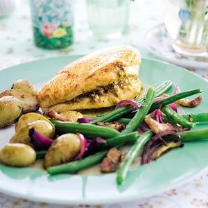 Recept - Kalkoen met gebakken aardappeltjes en boontjes - Allerhande