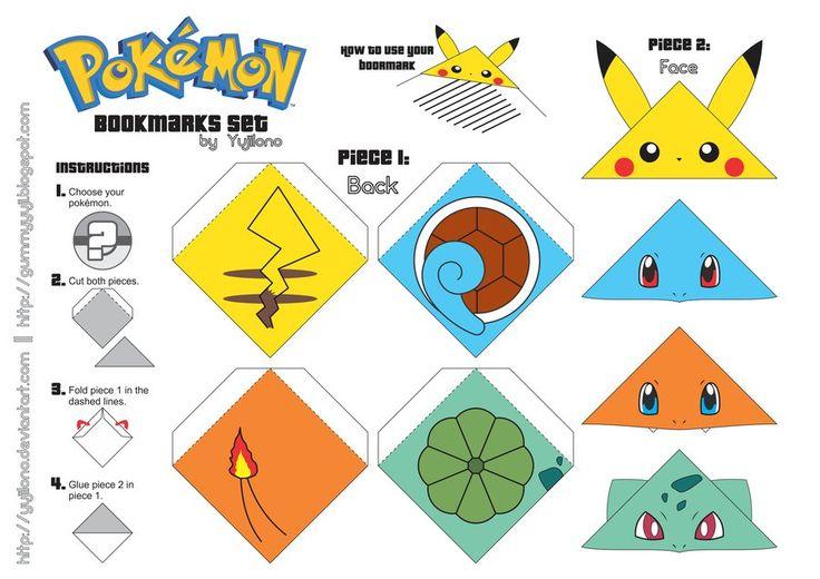 Marcadores de página de Pokémon! | Garotas Geeks