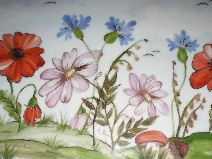 portacenere fiorito