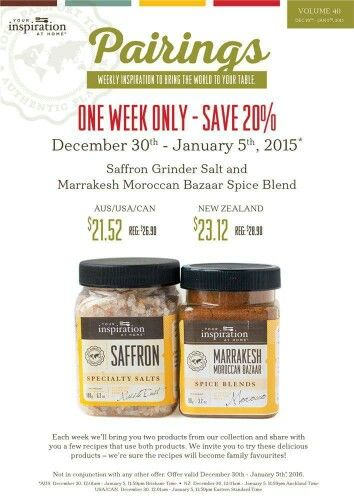 This weeks Pairings special go to www.fionamgriffin.yourinspirationathome.com.au    to order
