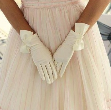 Cornelia James white gloves- a little more special than the regular DAR gloves.