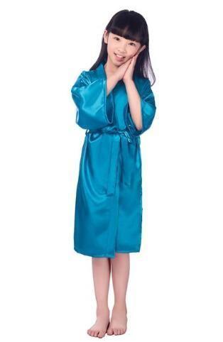 Baby Girls Kid Silk Satin Kimono Robes Bathrobe Sleepwear Wedding Flower  Girl Night Dress dbd20066a