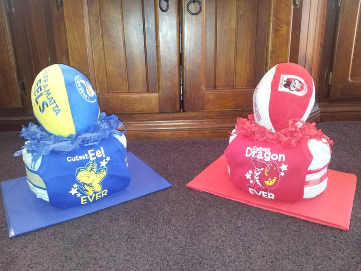 """FOOTY FEVER NAPPY CAKES"" Whats your team?"