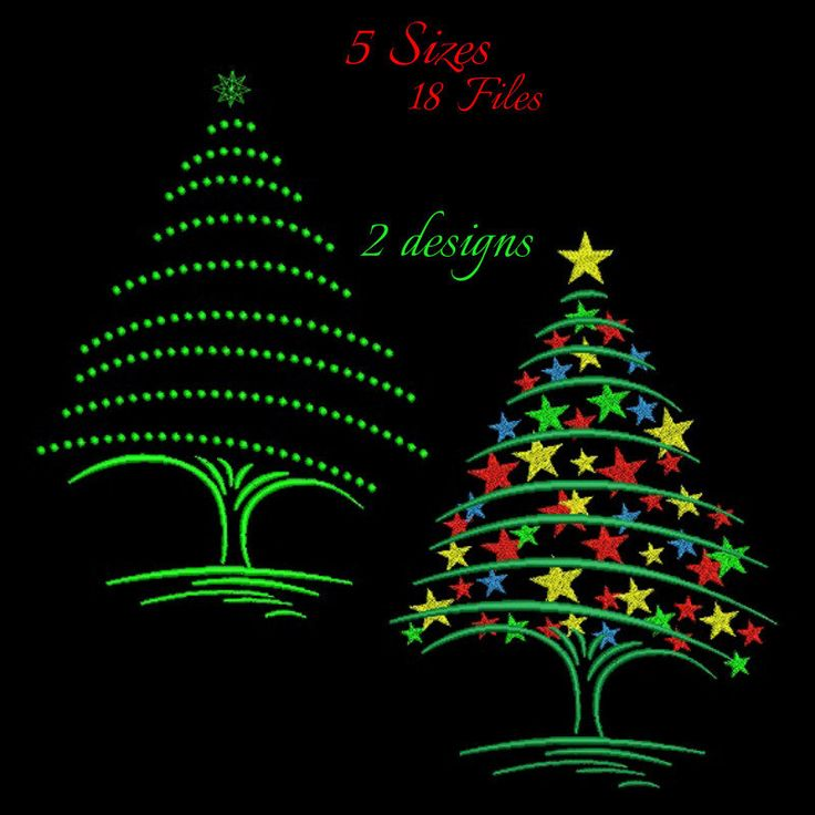 Christmas tree machine embroidery design pack,Christmas tree design,digital download,Christmas tree pattern,Christmas tree design,holiday by GretaembroideryShop on Etsy
