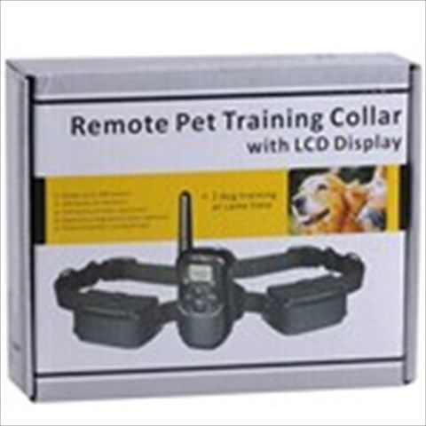 Black 300 Meters Range Remote Control Pet Tame Training 100-Level Vibration+ Static Shock Mode Collar with LCD Display