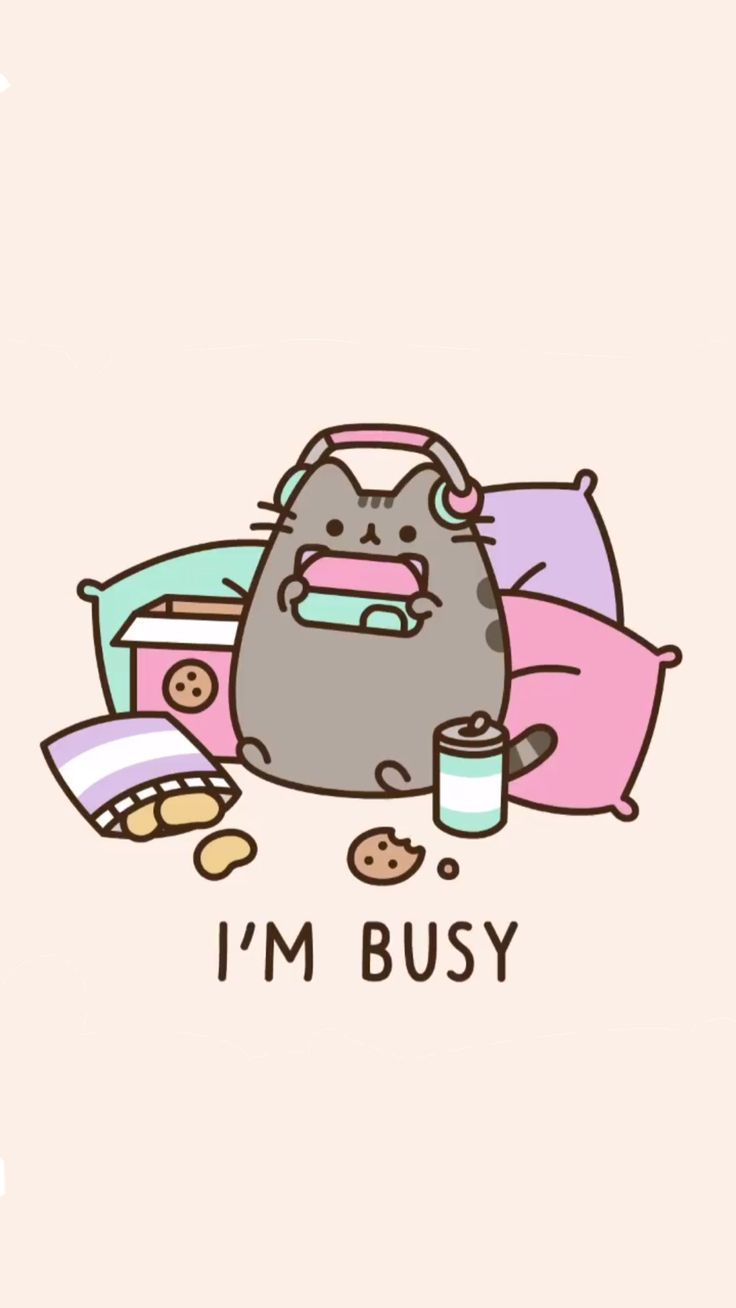 pusheen gamer wallpaper !! – #gamer #pusheen #wall…