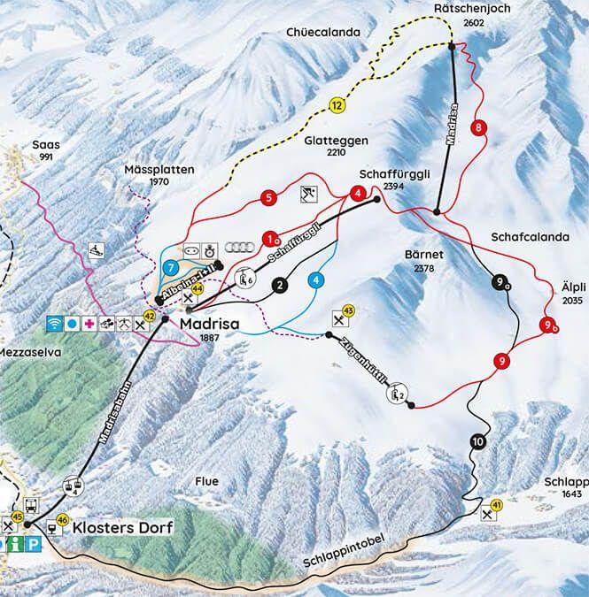 Madrisa Snowboarding Map Davos Snowboarding Pinterest