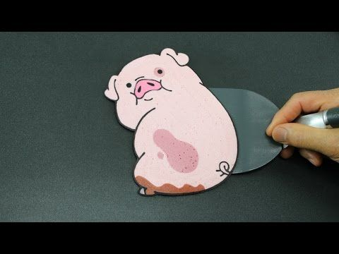 Pancake Art - Waddles (Gravity Falls | Disney XD) by Tiger Tomato - YouTube