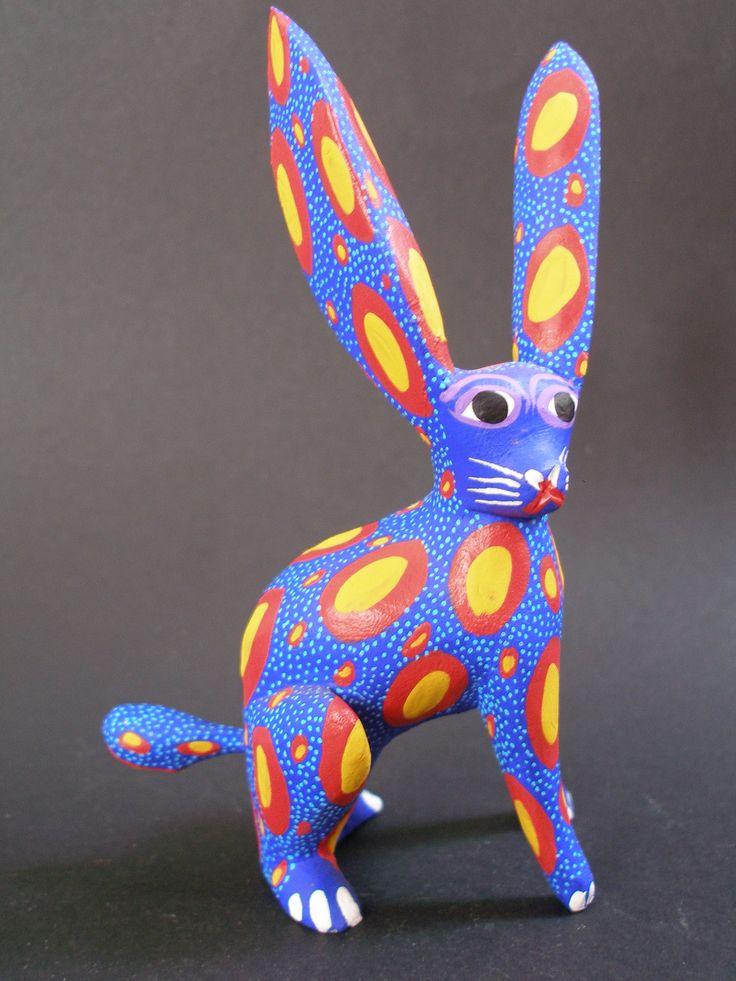 Alebrije ''Rabit'' Mexican Oaxaca handpainted Woodcarving