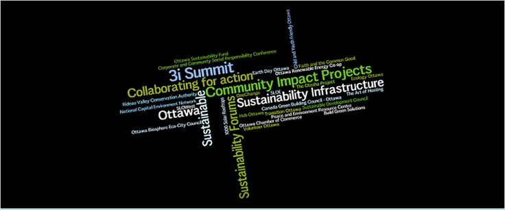 If you are someone who wants to innovate, interact, and initiate the kind of change that will advance environmental sustainability in Ottawa, then the 3i Summit 2012 is for you.
