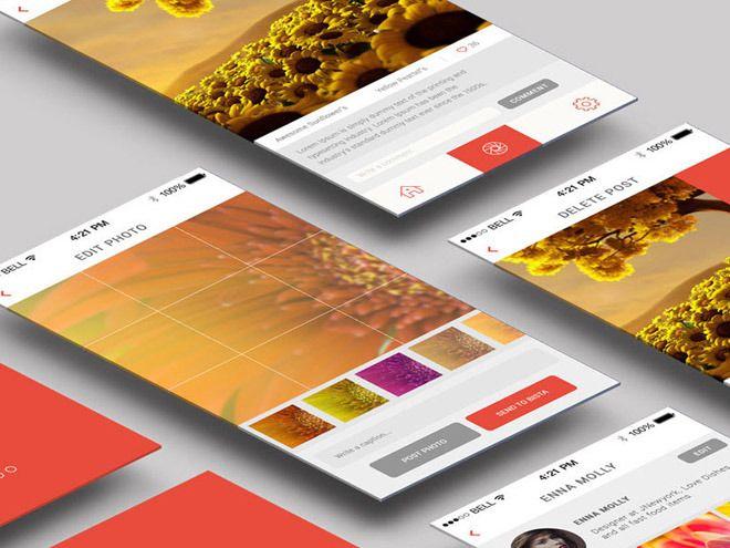 Binsta Mobile App PSD Template | Freebiesjedi