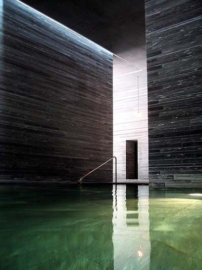 : Building, Peter O'Toole, Swim Pools, Therm Val, Switzerland, Peter Zumthor, Thermal Bath, Architecture Retreat, House