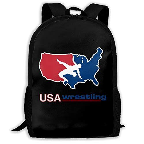 f6ada22b2110 Backpack, Travel Hiking Usa America Wrestling Logo Backpacks ...