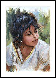 🌹Gypsy Girl Framed Print by Katherine Tucker