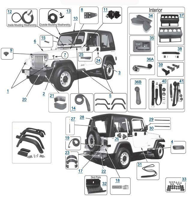 Awesome Jeep Wrangler Replacement Body Parts