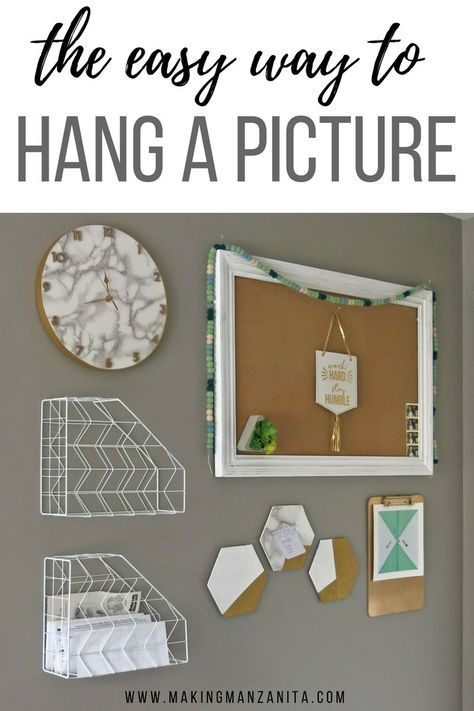 The Easy Way To Hang A Picture | How To Hang A Picture | Using Painter's Tape to Hang A Picture | Picture Hanging Tips | How to Hang Wall Decor | Picture Hanging Hack | How to hang art on your walls | Frame hanging tutorial | Simple way to hang picture on your walls | How to hang up wall decor | Hanging pictures on your walls | Use Painter's Tape to mark holes on your wall to hang up pictures
