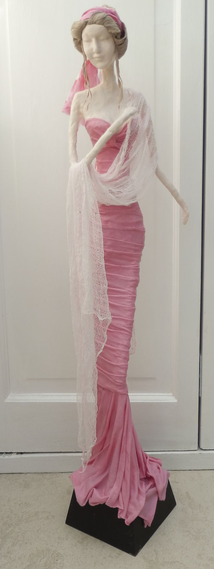Artist Sandra Raby : Giselle is a work in progress fabric sculpture.
