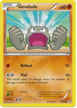 Geodude 43/83 Pokemon TCG: Generations Pokemon Card