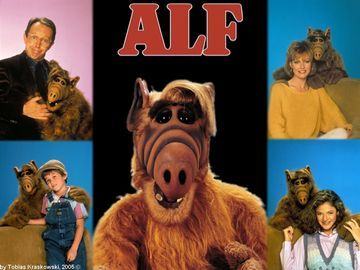 ALF - ALF is an American science fiction/fantasy sitcom that aired on NBC from September 22, 1986 to March 24, 1990.The title character is Gordon Shumway, a friendly extraterrestrial nicknamed ALF (an acronym for Alien Life Form), who crash lands in the garage of the suburban middle-class Tanner family.