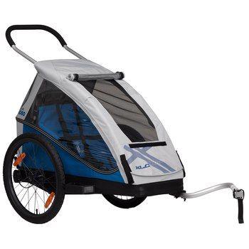 XLC Mono Fahrradanhänger für Kinder + Buggy 2016 - silber / blau