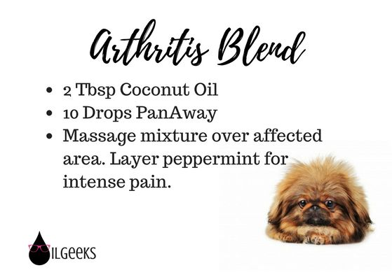 Young Living Essential Oils- The Oil Geeks diffuser recipes pet arthritis blend