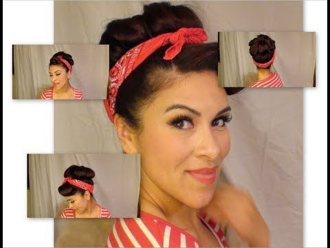 rosie the riveter hair style pin by gaby avila on make up amp hair 2061