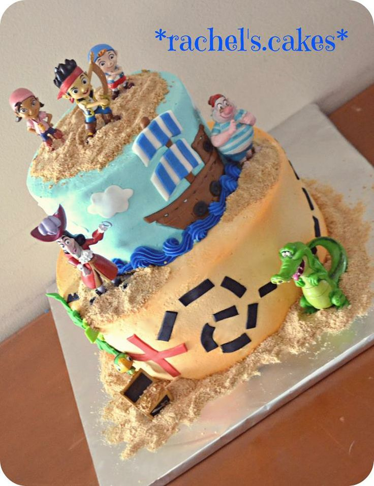 Jake and the Neverland Pirates cake https://www.facebook.com/the.rachels.cakes