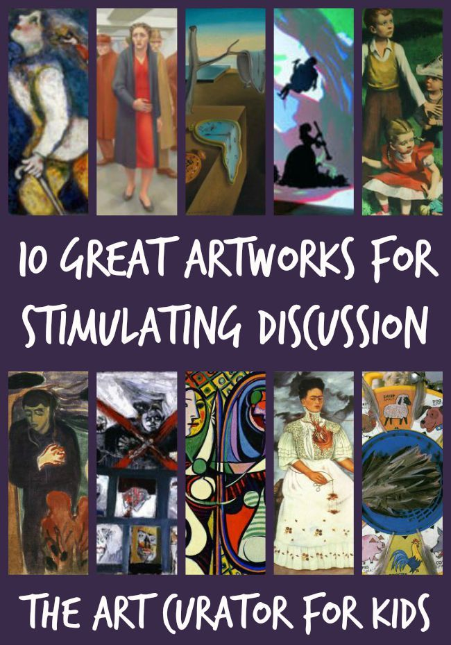 The Art Curator for Kids - 10 Great Artworks for Stimulating Discussion, Art Criticism Lesson, Talking About Art with High School Students