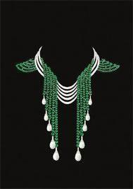 Un serti mystérieux d'émeraudes van cleef and arpels emerald necklace