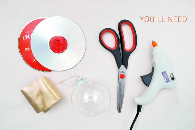 DIY: Mosaic Ornaments from CDs   Video Tutorial