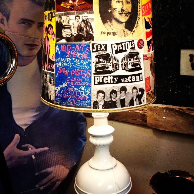 Punk lamp & James Dean poster at Kudzu & Co. - Sandy Springs, GA  http://kudzuandcompany.com/