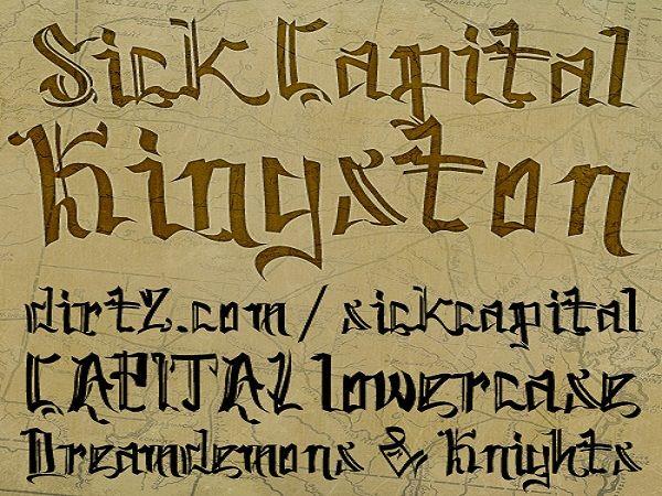 Cool Tattoo Fonts: Elegant SickCapital Kingston Tattoo Font ~ tattooeve.com Tattoo Ideas Inspiration