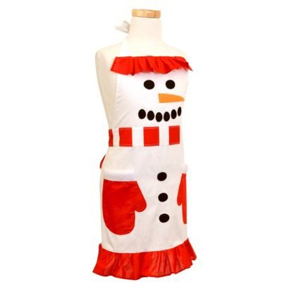Flirty Snowman Holiday Cooking Apron