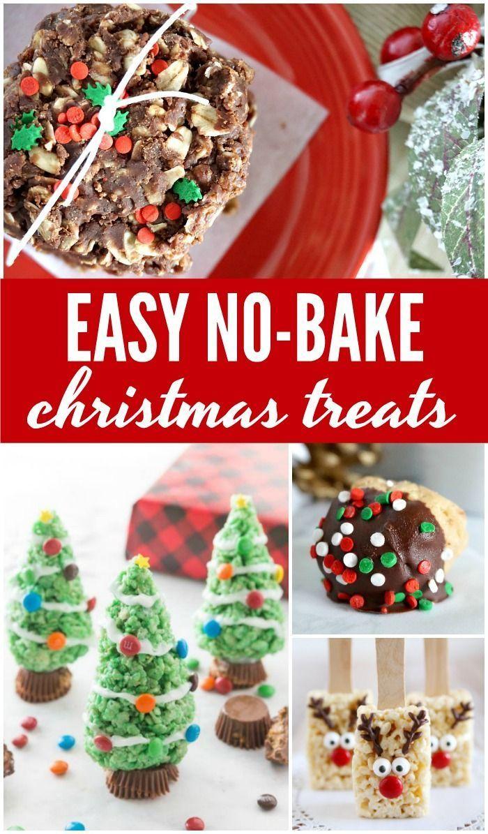 Easy No Bake Christmas Treats Holiday Food Easy Christmas Treats