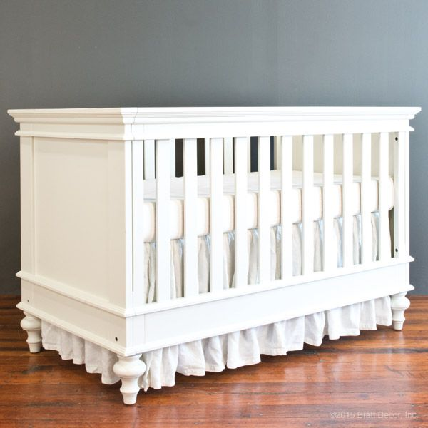 hampton crib white 795 brattdecor square wooden nursery